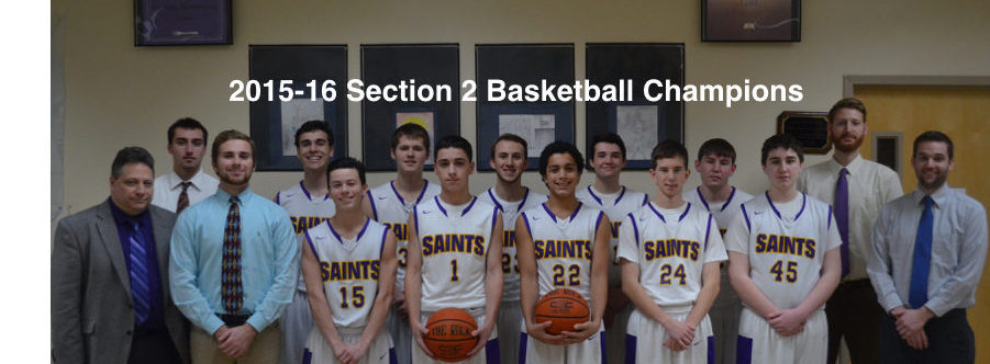 2016 Varsity Basketball Section 2 Champs
